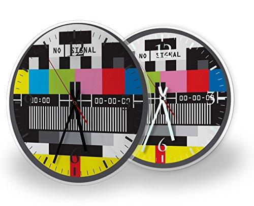 Printalio - Testbild - Lautlose Wanduhr mit Fotodruck auf Polycarbonat | geräuschlos kein Ticken Fotouhr Bilderuhr Motivuhr Küchenuhr modern hochwertig Quarz | 30 cm rund mit weißen Zeigern - GERÄUSC