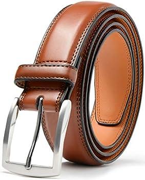 Mark Fred Men s Genuine Leather Dress Belt Handmade 100% Cow Leather