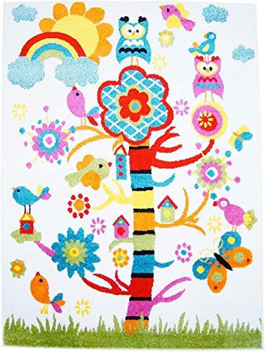 Alfombra para niños Árbol crema brillante colores,varios tamaños