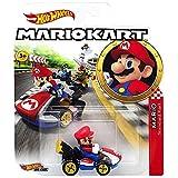Hot Wheels Mario Kart Character Car Diecast 1:64 Scale - Mario