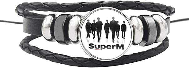 Chutoral Kpop SuperM Bracelet, SuperM Member Alloy Silicone Wristband Wristlet Jewelry Accessories, Gift for Fans(H09)