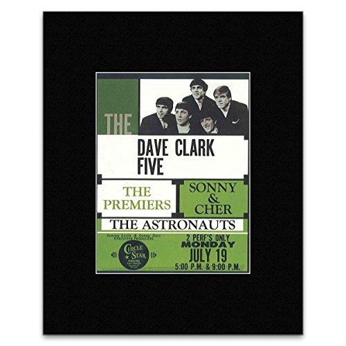 DAVE CLARK FIVE - Circle Star Theatre 1965 Mini Poster - 16x12cm