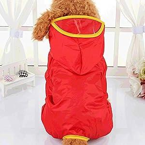 Sweat à capuche pour animal domestique combinaison imperméable quatre pattes pour chien manteau élastique réglable avec bandes réfléchissantes