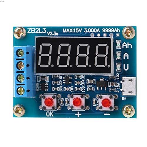 Nologo 18650 Akku-Kapazitäts-Tester, externe Ladung, Entladungstyp, 1,2 - 12 V, Tester mit zwei 7,5 Widerständen, intelligentes Batterie-Messgerät, digitaler Batterieprüfer für Elektronik