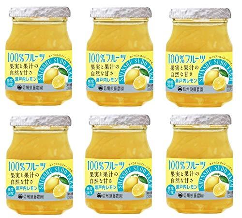 信州須藤農園 砂糖不使用 瀬戸内レモンジャム 185g×6個