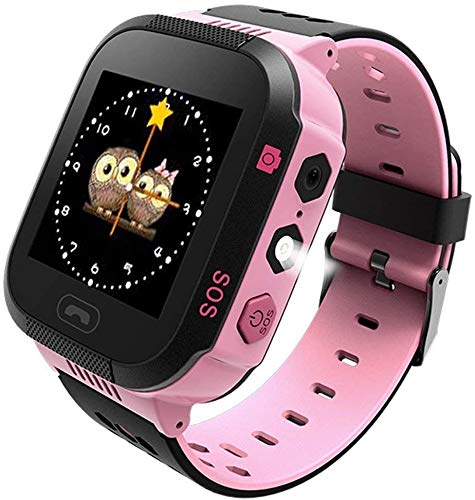 Global Trak Smart GPS Watch Specially Designed for Kids - India's Smartest Wearable GPS Tracker Watch & Activity Tracker with 2 Way Calling, Voice Messages(Pink&Black)