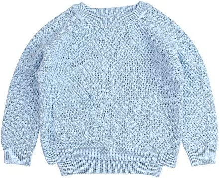 Baby Boys Girls Crochet Sweater Infant Kids Cable Knit Cotton Cardigans Casual Long Sleeve Pullover product image