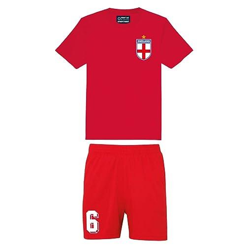 0a7dc9ed0466 Printmeashirt Kids Personalised England Away Style Football Shirt and Shorts