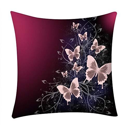 VJGOAL Moda Casual Flores impresión Funda de Almohada sofá Coche Cuadrado cojín Cubierta decoración del hogar(45_x_45_cm,B)
