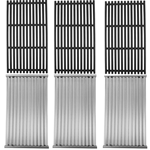 SafBbcue Cast Iron Cooking Grates and Infrared Emitter Replacement for Charbroil Infrared Grills 463242715, 463242716, 463276016, 466242715, 466242815