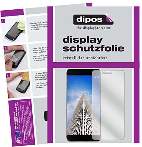 dipos I 6X Schutzfolie klar kompatibel mit Vernee Mars Pro Folie Bildschirmschutzfolie