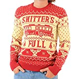 National Lampoon Vacation Shitter's Full Ugly Christmas Sweater (Adult XX-Large) Red, White