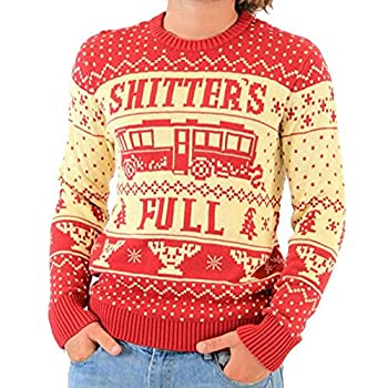 National Lampoon Vacation Shitter s Full Ugly Christmas Sweater  Adult X-Large  Red White