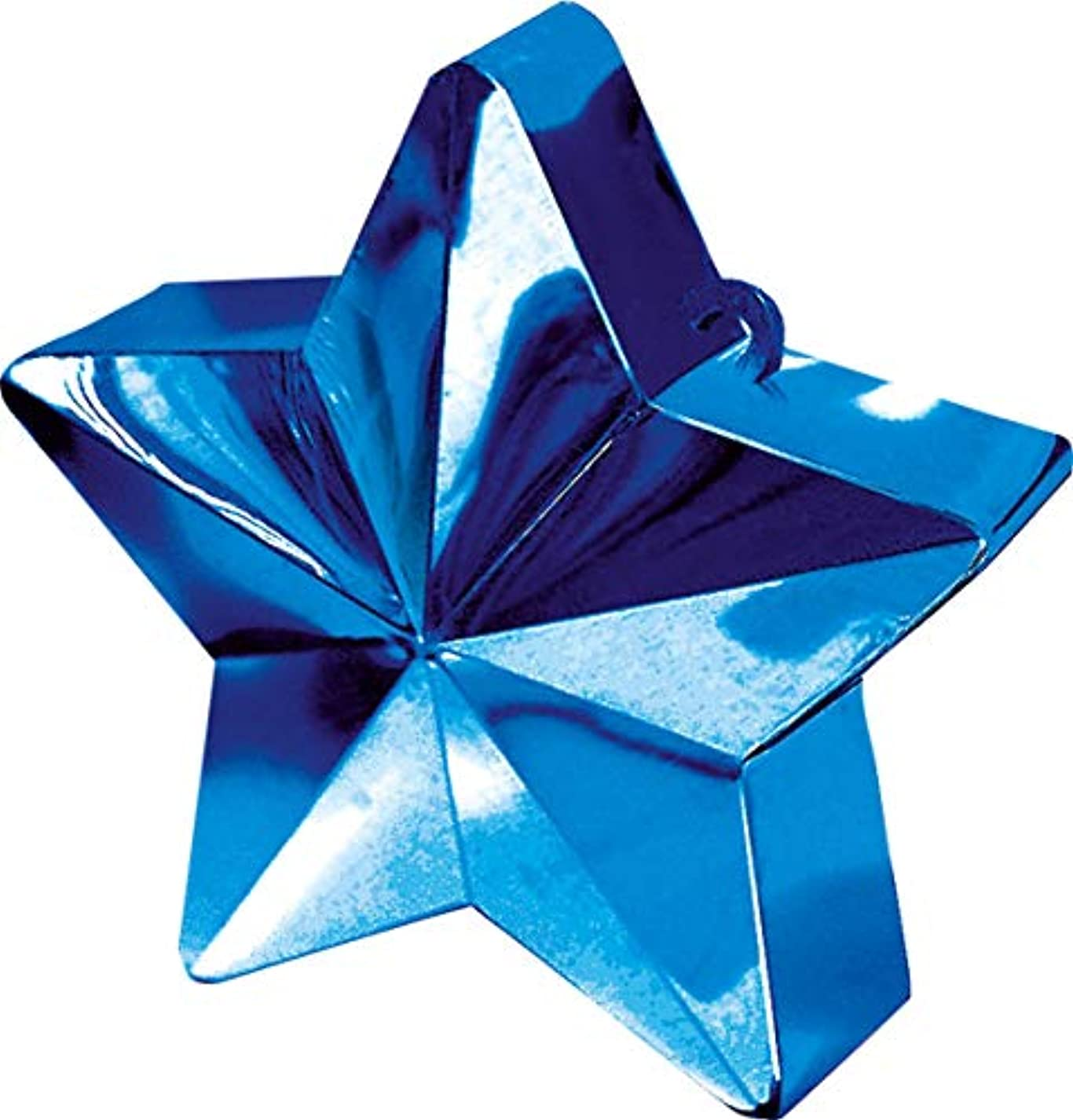Blue Star Electroplated Balloon Weight | Party Decor wkf354901939010
