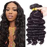 ELEE'S HAIR Brazilian 10A Grade Loose Wave Human Hair Bundles Unprocessed 100% Virgin Remy Human Hair Loose Deep Wave 3 Bundles for Black Women Natural Color 12 14 16 Inch
