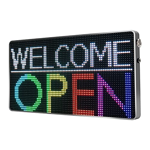 NICESO LED Sign Scrolling Message Board P4 RGB Full Color, APP Control Display with 80x40 Programmable LED Screen for Advertising and Business - Portable, Black