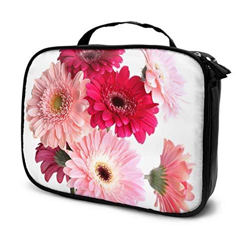 Belle Gerber Flower Travel Art Cosmetic Bag Trousse de Toilette pour Les Filles Medium Cosmetic Bag Multifunction Printed Pouch for Women