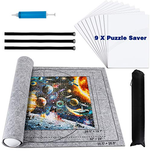 Libay Jigsaw Puzzle Mat Roll Up, Puzzle Saver Store 500 1000 1500 2000...