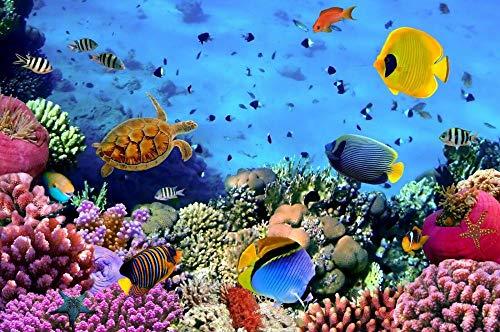 Pegatinas de pared Bajo el agua pared loza decoración cocina baño pez pegatina mural cartel