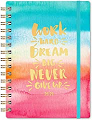JANUARY 2021 - DECEMBER 2021 - Featuring 12 months of weekly and monthly pages and marked holidays. With weekly and monthly sections for easy planning and scheduling, the planner 2021 has a colorful ink cover against a pretty background for a better ...