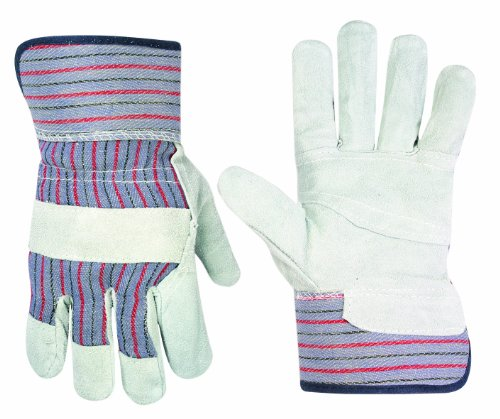 Custom Leathercraft 2046 Work Gloves with Safety Cuff and Wing Thumb, 1-Pair