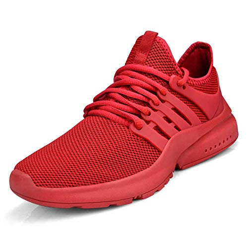 Troadlop Womens Sports Running Shoes Air Knitted Lightweight Fashion Sneakers Walking Tennis Non Slip Shoes Size 9 Red Zapatos de Mujer Womens Sneakers Tenis para Mujeres Platform Sandals
