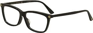 GG 0042OA 001 Asian Fit Black Plastic Cat-Eye Eyeglasses 55mm