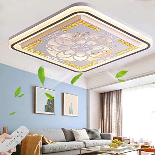 LED Moderno Lámpara De Techo Ventiladores De Techo Con Lámpara Y Control Remoto Sala De Estar Silenciosa Invisible Dormitorio Habitación Infantil Ventilador Lámpara De Techo Ø50cm, 36W (1#)