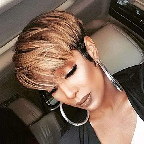 L&B-MR Pelucas elegantes para las mujeres europeas y americanas damas moda corto pelo rizado elegante pelucas para las mujeres peluca de fibra química mejor opción de regalo