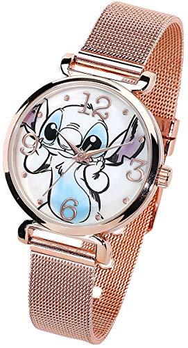 Lilo and Stitch Stitch Frauen Armbanduhren goldfarben Siehe Beschreibungstext Disney, Fan-Merch, Film