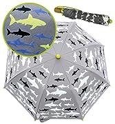 ►FARBWECHSEL BEI REGEN: Dieser HECKBO Regenschirm ist etwas ganz Besonderes, da er bei Nässe die Farbe wechselt! Die weiß überdeckten Haie verwandelt ihre Farbe zu dunkelblau und Neon gelb während die schwarzen Haie ihre Farbe nicht verändern. Trockn...
