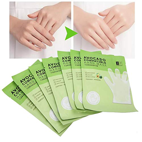 7pcs Hands Moisturizing Gloves, Hand Skin Repair Renew Mask Hand Mask Avocado Skin‑Friendly Moisturizing Nourishing Hand Mask Anti‑Dry Hand Care for Dry, Aging, Cracked Hands