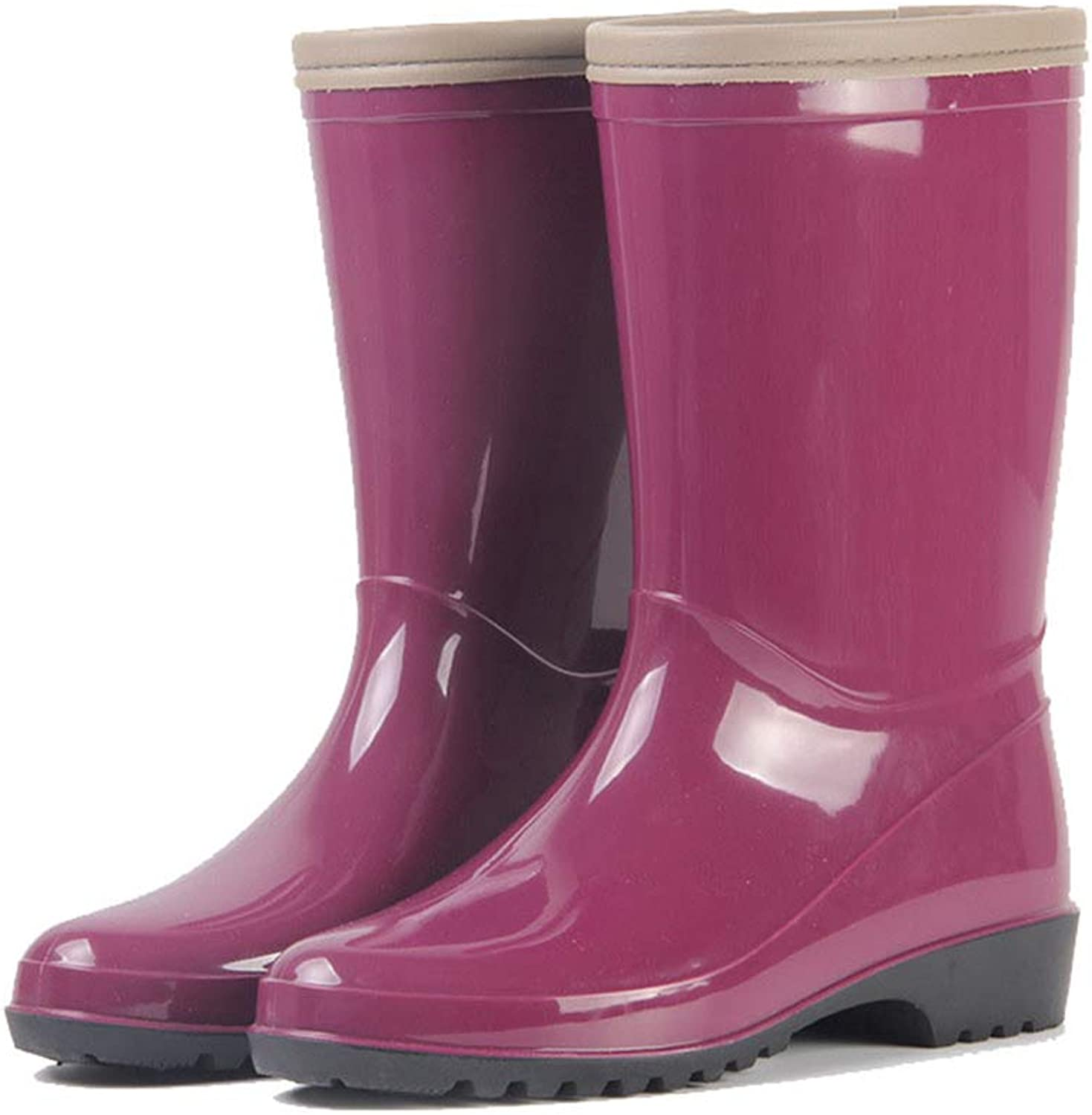Women's Knee-high Jelly Rain Boots 2 Colour