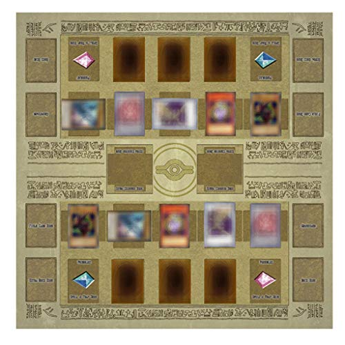 Wenini Yu-gi-oh Card Rubber Play Mat, Standard Type (for Competition) Egypt Mural Style Competition Pad, 60x60cm/23.6x23.6inch (Brown)