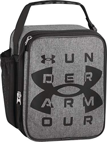 Under Armour Scrimmage, Heather Grey Insulated Lunch Box, 4 x 10 x 8.2 inch