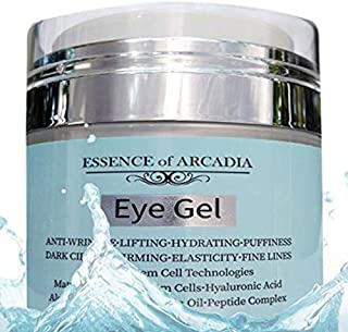 Eye Gel for Dark Circles, Puffiness, Wrinkles, Skin Firming and Bags - Effective Anti-Aging Eye Gel for Under and Around Eyes including Crows Feet with Hyaluronic Acid and Aloe Vera- 1.7 fl. oz.
