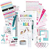 DIY Unicorn Journaling Set/Scrapbook Kit for Girls - Includes Bullet Journal & Scrapbooking Supplies Plus Augmented Reality Experience (STEM Toys) Use As Kids Planner, Organizer, Diary & Craft Kits