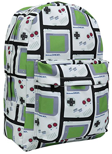 Bioworld Nintendo Gameboy All-Over Print Backpack, Multi-Colour (Bp081201Ntn) Casual Daypack, 37 cm, 10 L, Multi