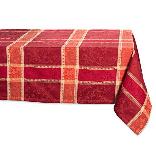 DII Rechteckige Baumwoll-Tischdecke, 152,4 x 304,8 cm, Weizen-Ernte, perfekt für Urlaub, Herbst, Erntedankfest, Dinner-Partys oder den täglichen Gebrauch