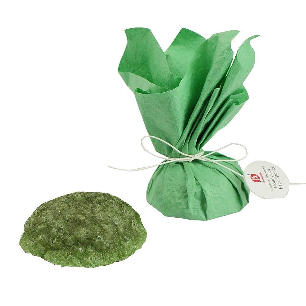 熱狂的な月曜収入まかないこすめ 凍りこんにゃくスポンジ(緑茶/緑)