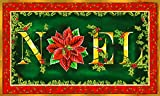 Toland Home Garden Noel 18 x 30 Inch Decorative Floor Mat Colorful Christmas Poinsettia Winter Flower Doormat - 800101