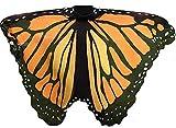 Lelike Schmetterling Kostüm Damen Flügel Erwachsene Schmetterlingsflügel Feenflügel Feenkostüm