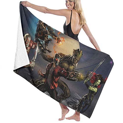 AllenPrint Toallas,Guardians Galaxy Ro-Cket Ra-Ccoon Gro-O-T Toallas De Baño, Toallas Decorativas De SPA para Mujeres para Viajes Deportivos, Acampar,80x130cm