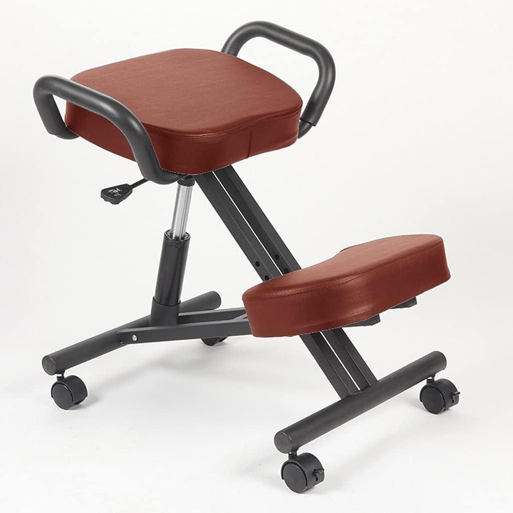 Kneeling Philadelphia Mall Chairs Ergonomic with PU New item Seat Correcti Posture Leather
