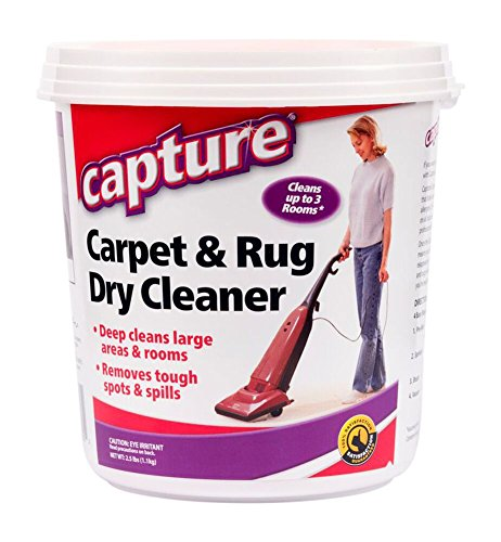 Capture Carpet Dry Cleaner Powder 2.5 lb - Deodorize Clean Stains Smell Moisture from Rug Couch Wool and Fabric, Pet Stain Odor Smoke Too