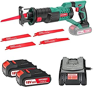 Sponsored Ad – Reciprocating Saw, HYCHIKA 18V Cordless Saw with 2x2000mAh Batteries, 0-2800rpm Variable Speed Electric Sa...