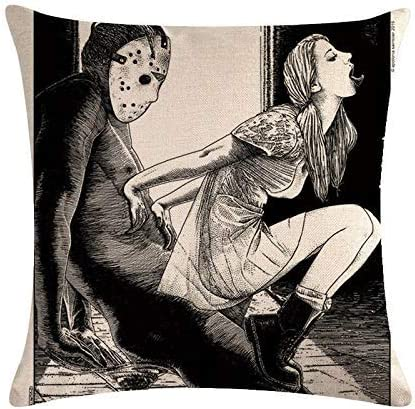 GERERIC Throw Pillow Covers Friday The 13Th Love New life 40% OFF Cheap Sale Tongue Make Sex