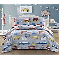3-Piece Smuge Kid's Quilt Set with Pillow Sham