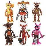 Yzoncd 6 Unids / Lote Five Nights At Freddys Bear 13Cm Juego De Figuras De Acción, PVC Light Blocking FNAF Freddy Anime Vinyl Model Action & Toy Figuras