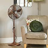 Kingfisher Limitless Pedestal Fan, 16-Inch, Copper
